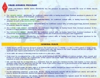 YB�EMJ : ORARI Awards Program