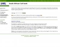 ZS  	South African Call book