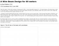 A Wire Beam Design for 80 meters