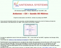 EH antenna for 80 meters F8APF