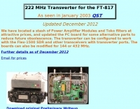 222 MHz Transverter for the FT-817