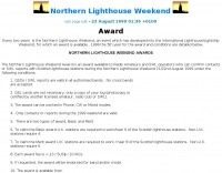 Northern Lighthouse Weekend - Award