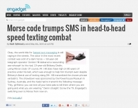 Morse code vs SMS - Speed test