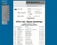 IOTA Bearing & Distance list for your QTH