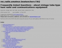 rec.radio.amateur.boatanchors FAQ