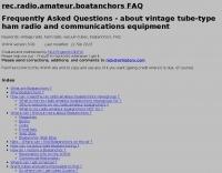 rec.radio.amateur.boatanchors FAQ