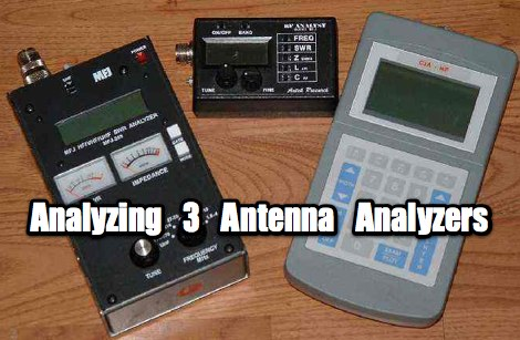Analyzing Three Antenna Analyzers