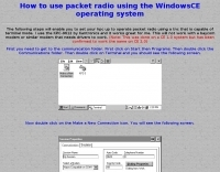 Packet Radio on a Windows CE device made simple