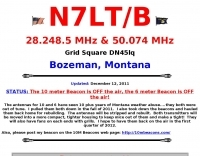 N7LT Beacon