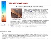 The VHF Quad Beam Antenna