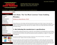 10 Common Tower Building Mistakes
