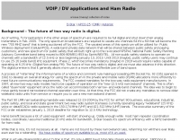 VOIP applications and Ham Radio
