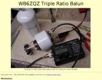 WB6ZQZ Triple Ratio Balun