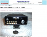 Switched inductor L match tuner