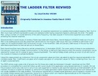 The Ladder Filter