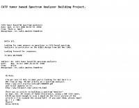 Spectrum Analyzer building Project.