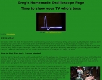 Greg's Homemade Oscilloscope Page