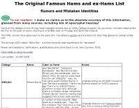 Famous Hams : Rumors and mistakes