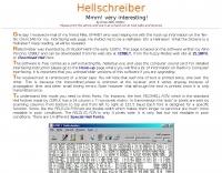 WM2U's Hellschreiber Page