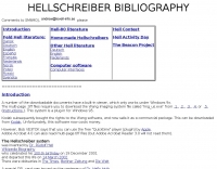 Hellschreiber Bibliography