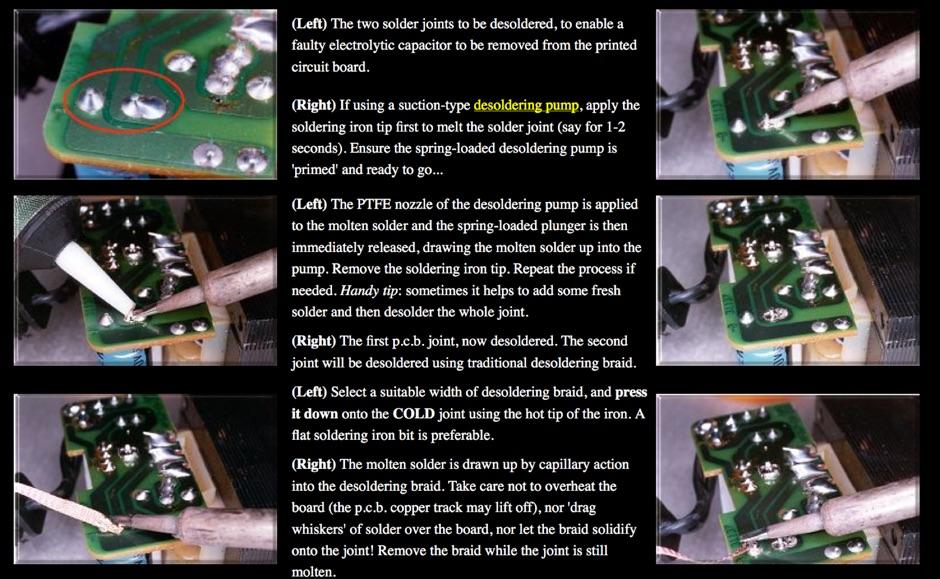 Basic De-soldering Guide