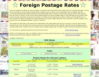 Foreign postage rates