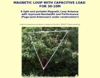 Magnetic loop for 30-10 M