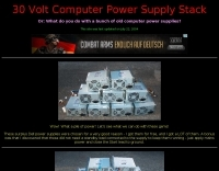 30 Volt Computer Power Supply Stack