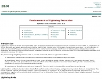 Fundamentals of Lightning Protection