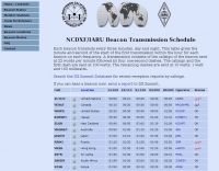 NCDXF/IARU Beacon List