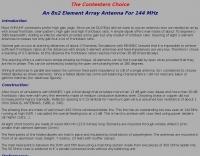 An 8x2 Element Array Antenna For 144 MHz