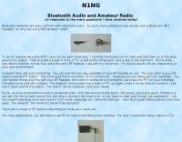 Bluetooth Audio and Amateur Radio