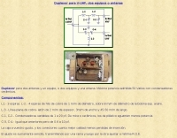 Duplexer for VHF and UHF