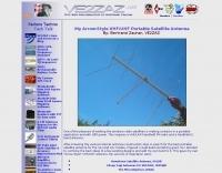 Portable satellite antenna