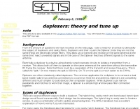 Duplexers: Theory and Tune Up