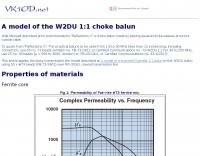 A model of the W2DU 1:1 choke balun