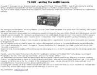 TS-820 - adding the WARC bands.