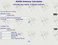 W4HN Antenna Calculator