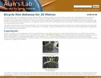 Bicycle Rim Antenna for 20 Metres