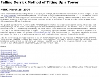 Falling Derrick Method of Tilting Up a Tower