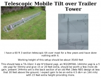 Telescopic Mobile Tilt over Trailer Tower