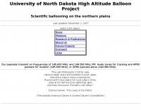 UND High-Altitude Balloon Project
