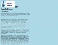 HF insulation, the pitfalls