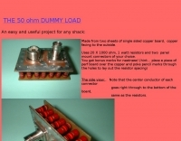 The 50 ohm dummy load