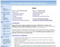 Track down television interference