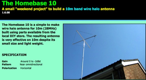 The Homebase 10 halo antenna