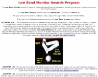 Low Band Monitor Awards