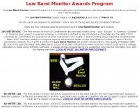 Low Band Monitor Awards