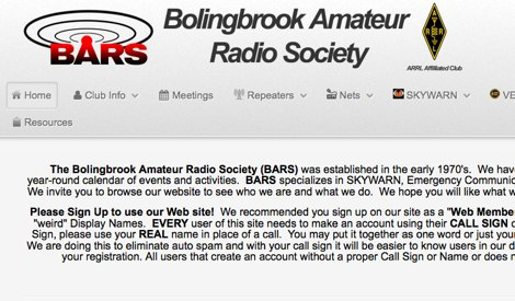 K9BAR Bolingbrook Amateur Radio Society