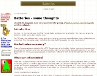 Batteries - some thoughts